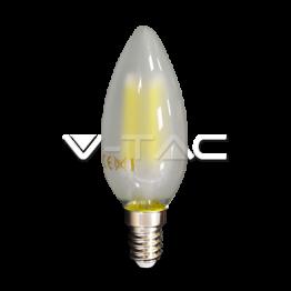 LED Крушка - 4W Filament E14 Матирано Покритие Кендъл 6400К