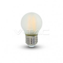 LED Крушка - 4W Filament E27 G45 Матирано Покритие Бяла Светлина