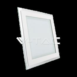 12W LED Панел Стъклено Тяло - Квадратен Модул Топло Бяла Светлина