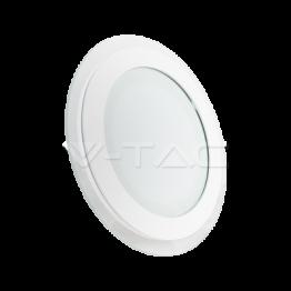 12W LED Панел Стъклено Тяло - Кръгъл Модул Топло Бяла Светлина