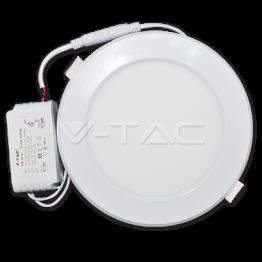 12W LED Пластик Панел - Кръг Топло Бяла Светлина