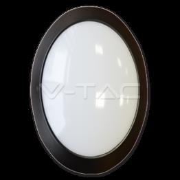 12W LED Овално Тяло Външен Монтаж черно Тяло IP66 Неутрално Бяла Светлина