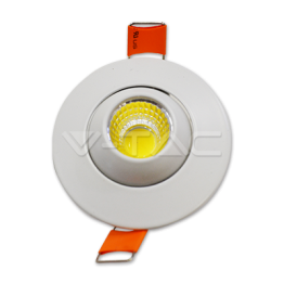 3W LED Downlight With Moving Head Round White