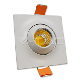 3W LED Downlight With Moving Head Square White