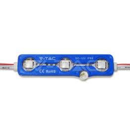 LED Module 3SMD Chips SMD5050 Blue IP67
