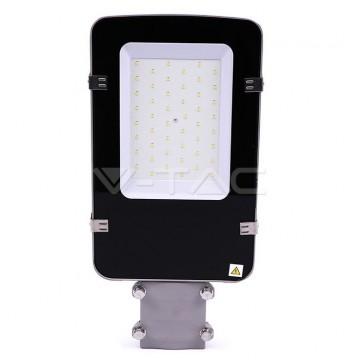 LED Улична Лампа SAMSUNG ЧИП - 30W Сиво Тяло 4000К