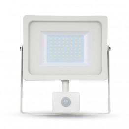 50W LED Прожектор SMD Сензор Бяло Тяло Бяла Светлина