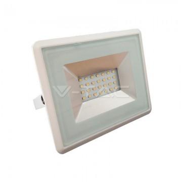20W LED Прожектор Е-Series Бяло Тяло Бяла Светлина