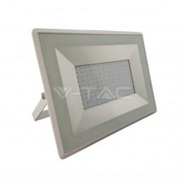 100W LED Прожектор Е-Series Бяло Тяло Неутрално Бяла Светлина