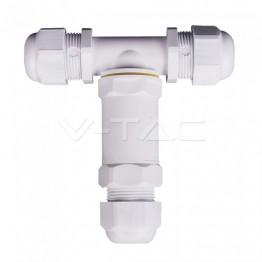 Влагозащитен Конектор Бял 3х8-12мм IP68