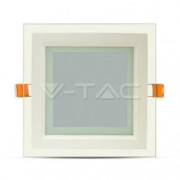 12W LED Панел Стъклено Тяло - Квадратен Модул Неутрално Бяла Светлина