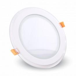 12W LED Панел Стъклено Тяло - Кръгъл Модул Неутрално Бяла Светлина