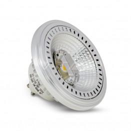 LED Крушка - AR111 12W GU10 40 Градуса COB Chip Топло Бяла Светлина Димируема