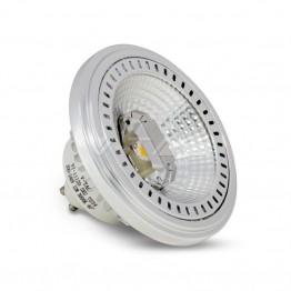 LED Крушка - AR111 12W GU10 40 Градуса COB Chip Бяла Светлина Димируема
