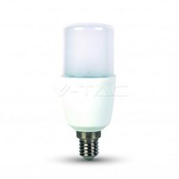 LED Крушка - 9W T37 E27 Пластик Топло Бяла Светлина