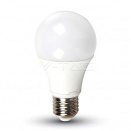 LED Крушка - 9W E27 A60 Термо Пластик Бяла Светлина