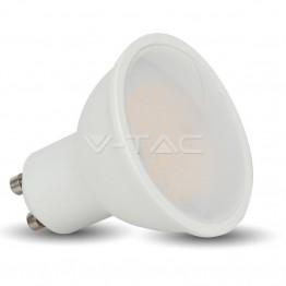 LED Крушка - 6W GU10 SMD Пластик Бяла Топло Бяла Светлина