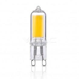 LED Крушка - 2W 230V G9 Пластик Бяла Светлина