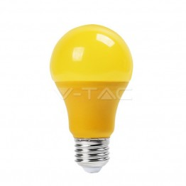 LED Крушка - 9W E27 Пластик Жълта