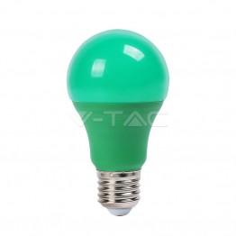 LED Крушка - 9W E27 Пластик Зелена