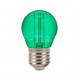 LED Крушка – 2W Filament E27 G45 Зелен Цвят