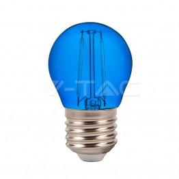 LED Крушка – 2W Filament E27 G45 Син Цвят