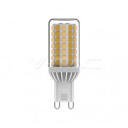 LED Крушка - 5W G9 Пластик 6400К Димираща