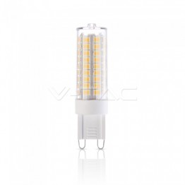 LED Крушка - 5W G9 Пластик Димираща 6400K
