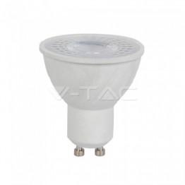 LED Крушка - 6W GU10 Пластик Лупа 6400K CRI 95+