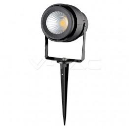 12W Градинска Лампа Тип Колче Черно Тяло 4000К