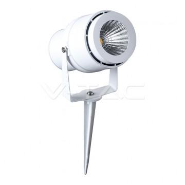 12W Градинска Лампа Тип Колче Бяло Тяло 3000К