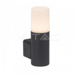 GU10 Градинска Стенна Лампа Черна Цилиндър IP54