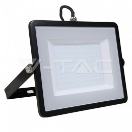 100W LED Прожектор SAMSUNG ЧИП SMD SLIM Черно Тяло 6400K 120LM/W