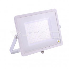 100W LED Прожектор SAMSUNG ЧИП SMD SLIM Бяло Тяло 6400K 120LM/W