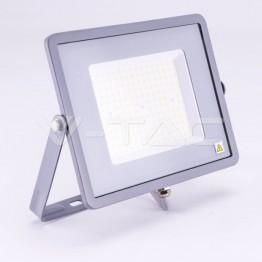 100W LED Прожектор SAMSUNG ЧИП SMD SLIM Сиво Тяло 4000К 120LM/W