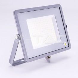 100W LED Прожектор SAMSUNG ЧИП SMD SLIM Сиво Тяло 6400К 120LM/W