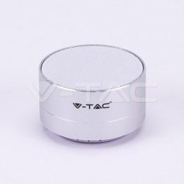 Bluetooth Колона Метална + TF Слот 400mah Сребро