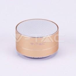 Bluetooth Колона Метална + TF Слот 400mah Златно