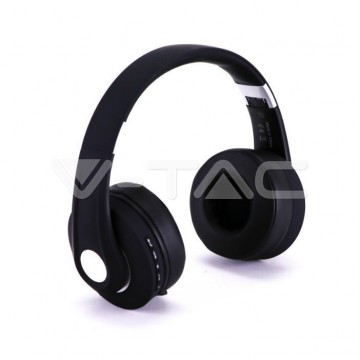 Bluetooth Слушалки Регулируеми 500mAh Черни