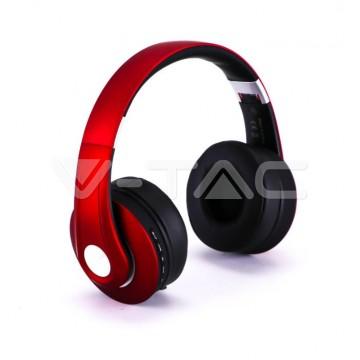 Bluetooth Слушалки Регулируеми 500mAh Червени