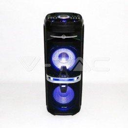 120W Колона С 1 Безжичен + 1 Жичен Микрофон RF Контрол 2*10inch