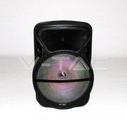 50W Колона С 1 Безжичен + 1 Жичен Микрофон RF Контрол 15inch