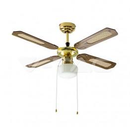 1 x Е27 LED Тяло/Вентилатор Таван 4 Перки 50W AC Мотор
