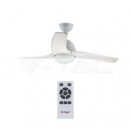 15W LED Тяло/Вентилатор Таван Дистанционно 3 в 1 3 Перки Бяло 35W AC Мотор