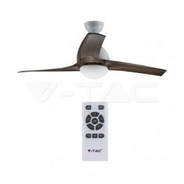 15W LED Тяло/Вентилатор Таван Дистанционно 3 в 1 3 Перки Кафяв 35W AC Мотор