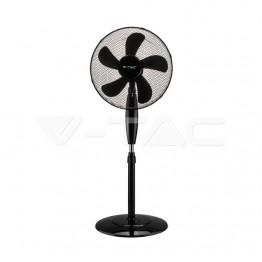 55W Вентилатор Наземен 5 Перки Черен