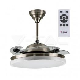 30W LED Тяло/Вентилатор Таван Дистанционно 3 в 1 3 Перки Бяло 35W AC Мотор