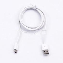Type C USB Кабел 1.5м Бял