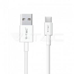 1м. Микро USB Кабел Бял Серия