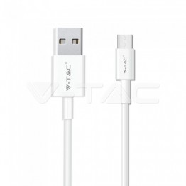 1м. Тип C USB Кабел Бял Серия